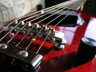 обои Красная гитара фото
