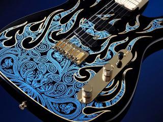 обои Разрисованная гитара фото
