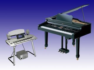 обои Рояль и синтезатор фото
