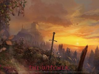 обои Witcher замок фото