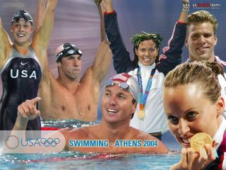 обои Олимпийские чемпионы по плаванию фото