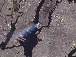 """обои """"Большое Яблоко"""" - вид из космоса фото"""