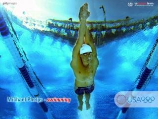обои Лидер мирового плавания - М. Фелпс фото