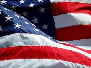 обои Развевающийся, звёздно-полосатый флаг США фото