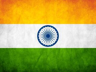 обои Индийский флаг в стиле гранж фото