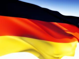 обои Развевающийся, векторный флаг страны Германии фото
