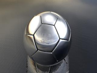 обои Металлический, футбольный мяч на воде фото