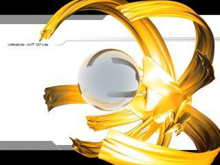 обои Сферический шар в большой установке-клешне фото