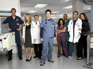 "обои Персонал из сериала ""Клиника"" фото"