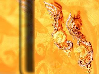 обои Золотые серьги фото