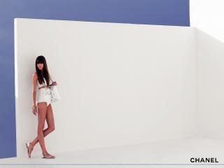 обои Бренд Шанель девушка в белом фото