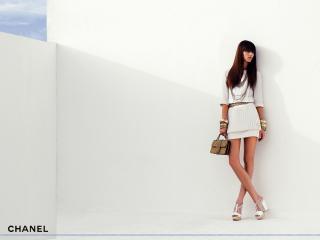 обои Бренд Шанель белое платье фото