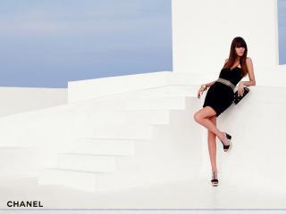 обои Бренд Шанель черное платье фото