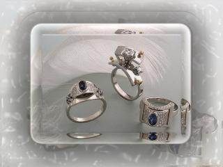 обои Серебряные кольца фото
