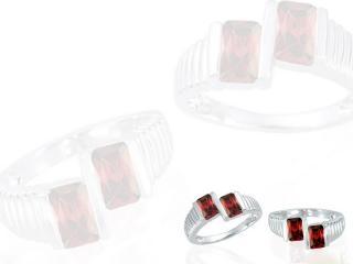 обои 2 кольца с рубинами фото