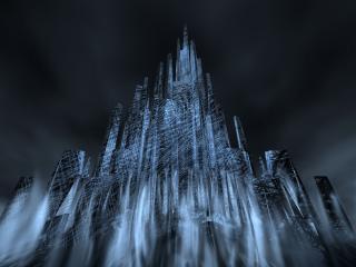 обои Трёхмерный город готов мрака и тьмы фото