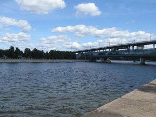 обои Москва-река в Лужниках фото