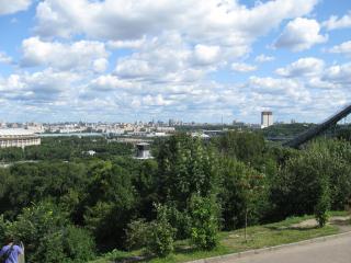 обои Панорама с Воробьевых гор фото