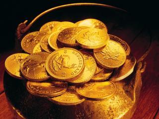обои Ведро монет фото