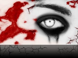 обои Глаз зомби в окровавленных, рваных ранах фото