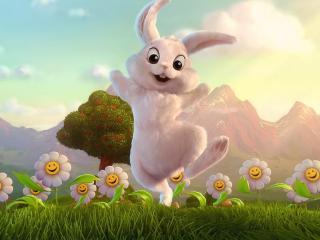 обои Весёлый кролик фото