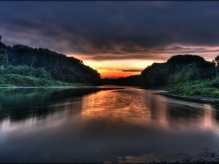 обои Donau sunrise фото