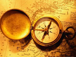 обои Золотой компас фото