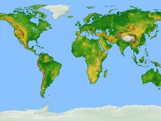 обои Widescreen Map of Earth фото