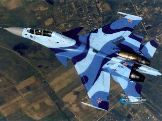 обои Многоцелевой истребитель Су-35УБ фото