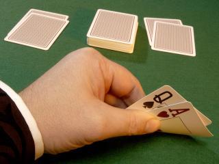 обои Дама и туз червовые в покере фото
