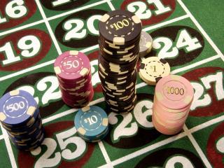 обои Фишки для рулетки в казино фото
