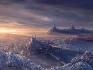 обои Таинственный город фото