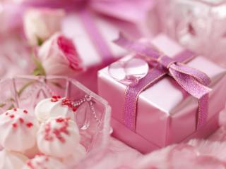 обои Розовые подарки в нежной гамме фото