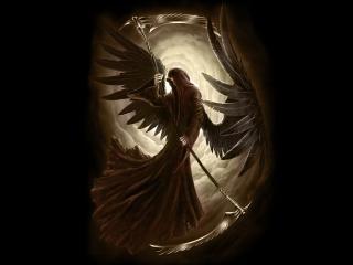 обои Смерть с крыльями фото