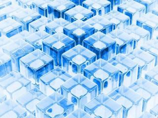 обои Голубые кубики фото