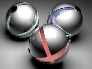 обои Металлические Х шары фото