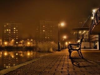 обои Уютное местечко скамейка фото