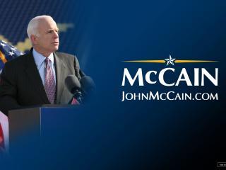 обои для рабочего стола: US presidential election 2008 John McCain