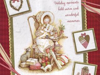 обои для рабочего стола: Открытка: бабушка готовится к новому году