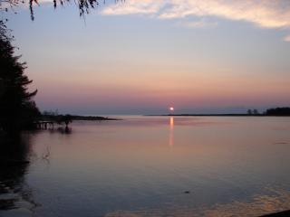 обои Закат в заливе фото