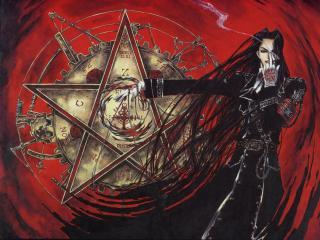 обои Охотник на вампиров на фоне пиктограммы фото
