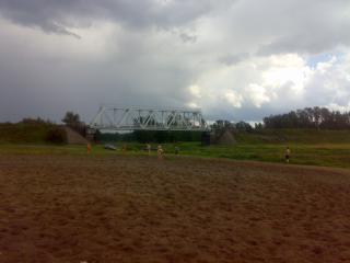 обои Железнодорожный мост фото