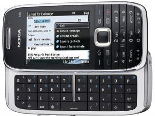 обои Nokia e75 с клавиатурой черная фото