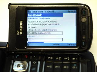 обои Nokia n 93 and  facebook фото