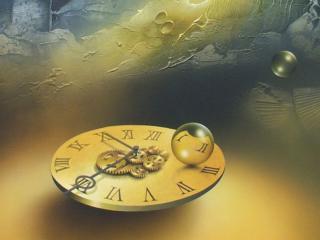 обои Forgotten clock фото