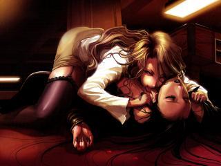 обои Вампирша утоляет голод фото