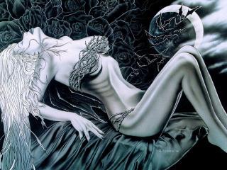 обои Девушка в колючей проволоке фото
