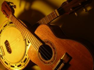 обои Две гитары фото
