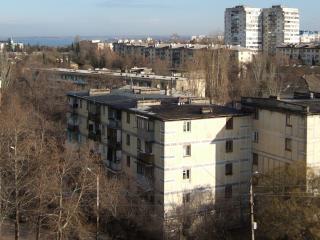 обои Вид с окна на осенний город фото