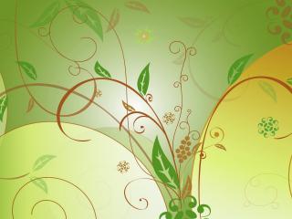 обои Узоры с листьями фото
